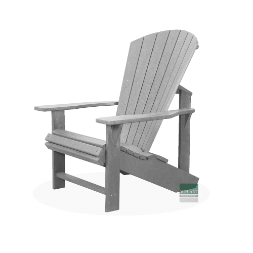 Adirondack Chair Kanadischer Sessel Deckchair Light Grey