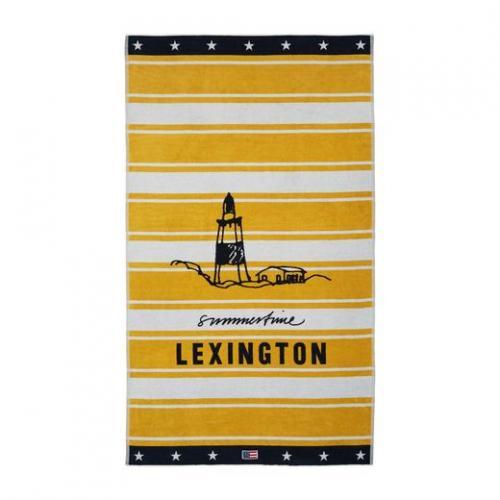 Lexington Strandtuch Beach Towel Graphic Cotton Yellow White