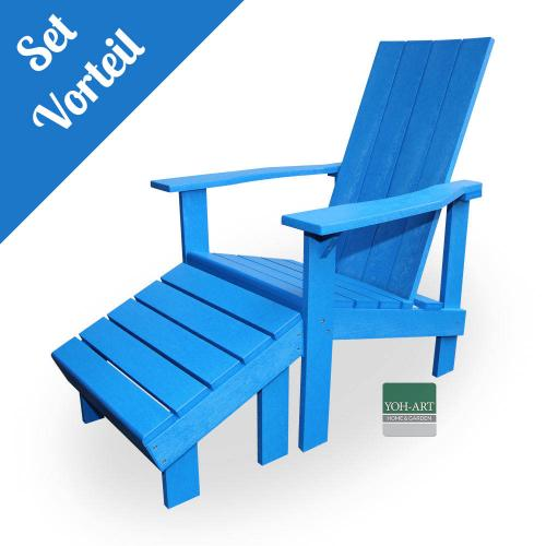 Adirondack Chair Coast Set Blue