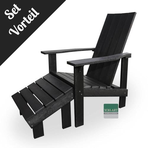 Adirondack Chair Coast Set Cool Coal