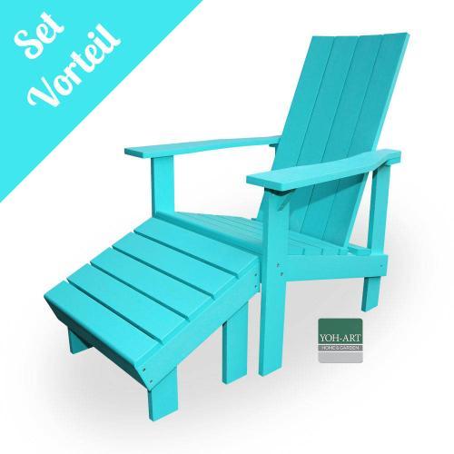 Adirondack Chair Coast Set Türkis