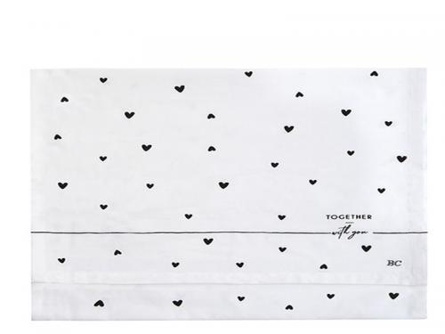 Bastion Collection Läufer White Hearts in Black