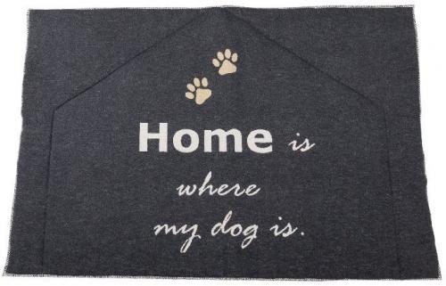David Fussenegger gefütterte Hundematte home is where my dog is anthrazit