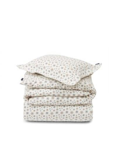 Lexington Snowflake Printed Flannel Bettwäsche SET White/Beige