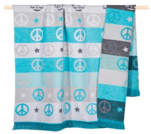 pad home design Peace Decke turquoise
