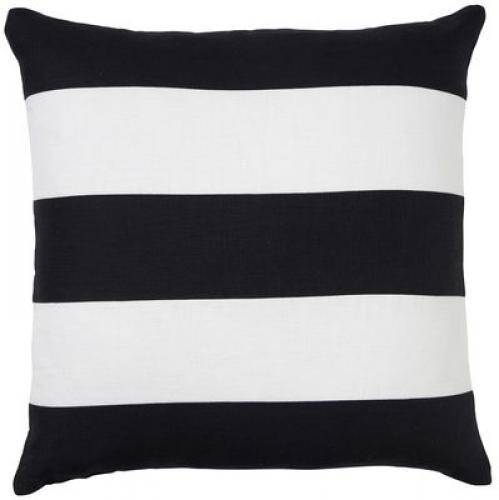 Paloma Living Linen Stripe Black 50 x 50