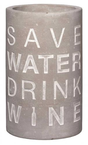 Räder Design Pet Vino Beton Flaschenkühler Save Water