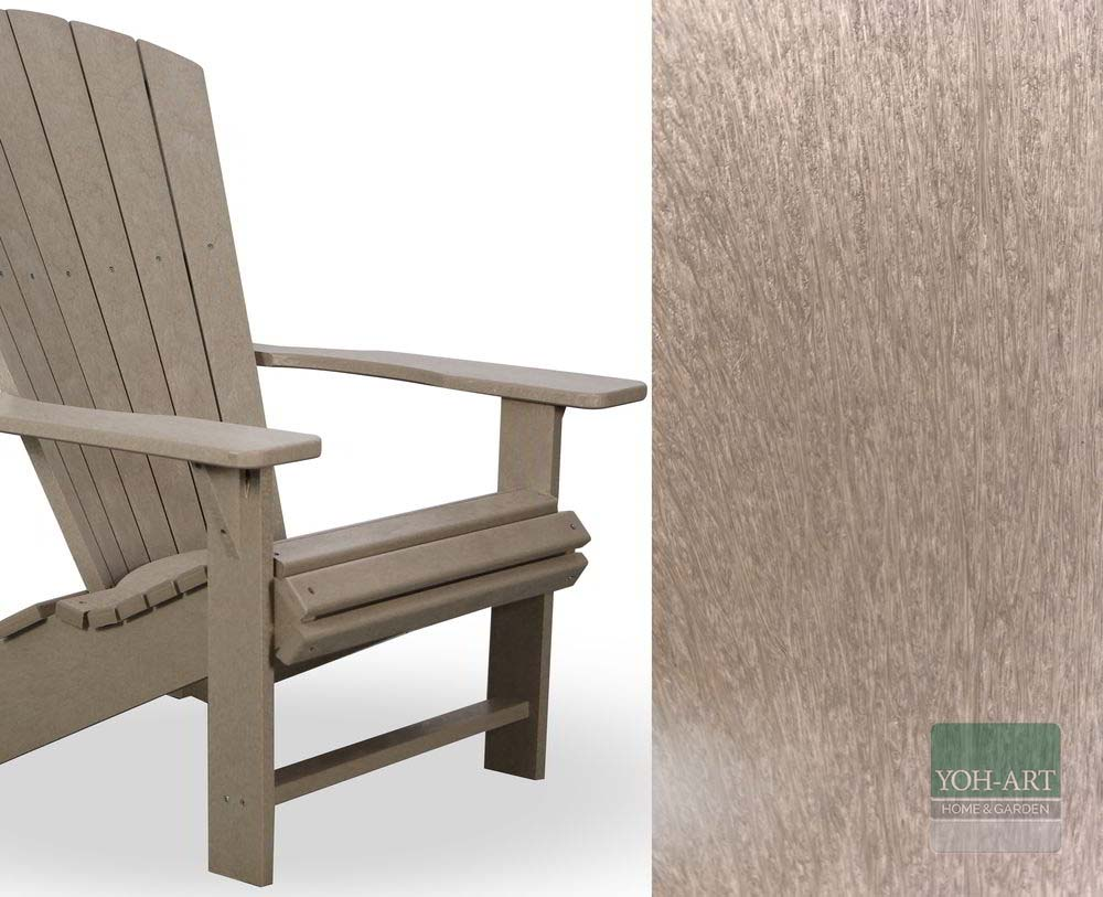 Adirondack Chair recycelt in Holzoptik
