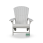 Preview: Adirondack Kanadischer Deckchair Red