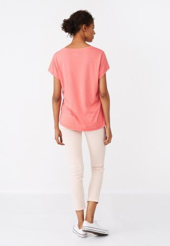 Lexington Ashley Jersey Tee Shirt Pink Model Hinten