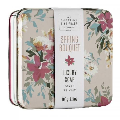 The Scottish Fine Soap Seife - Spring Bouquet Soap in a Tin
