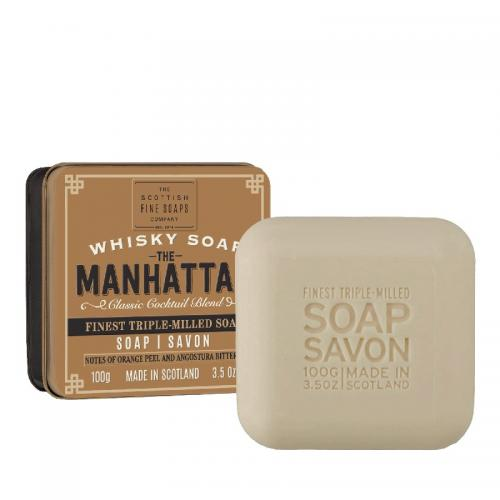 The Scottish Fine Soap Seife - The Manhattan Soap in a Tin Dose