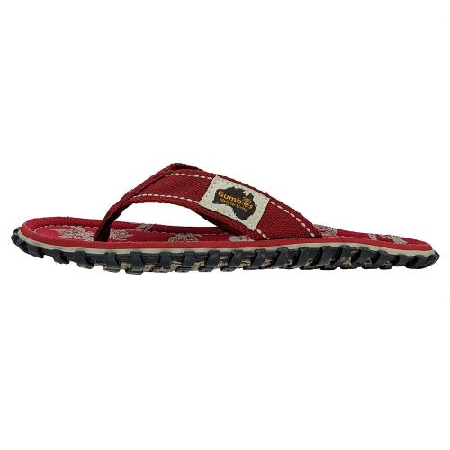 Gumbies Australische Sandalen Pacific Red links