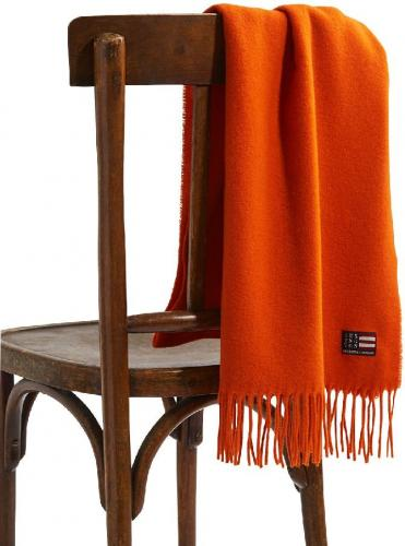 Lexington Massachussets Recycled Wool Blend Schal Orange Trendig Weich Wohlig