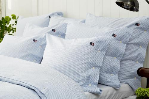 Lexington Bettbezug Pin Point Blue Duvet Mood Bett Gemueltich Schoen