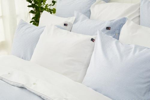 Lexington Bettbezug Pin Point Blue Duvet Mood Bett Bequem Elegant