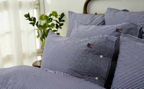 Lexington Kopfkissenbezug Seaside Navy Check Pillowcase Mood Schlafzimmer Trendig