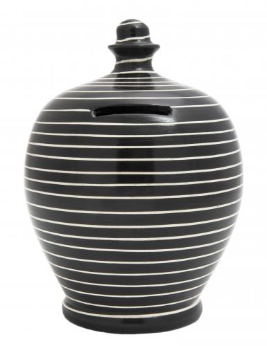 Money Pot C13 Stripe Black and White