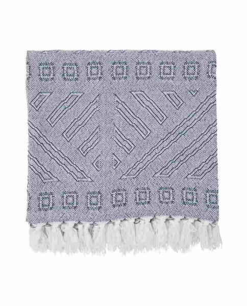 Lexington Bettüberwurf Jacquard Throw Blue/White