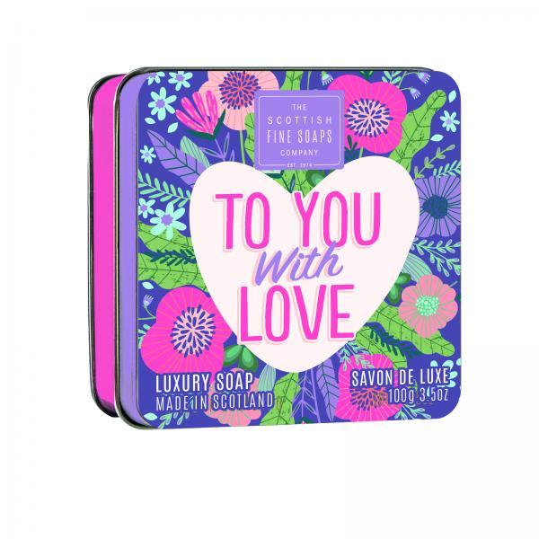 The Scottish Fine Soap Seife - To You With Love Soap in a Tin