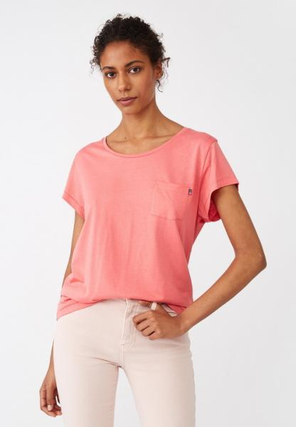 Lexington Ashley Jersey Tee Shirt Pink Model Klein