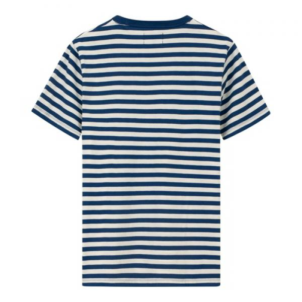 Lexington Bill Striped Tee T-Shirt Blue White Striped Hinten
