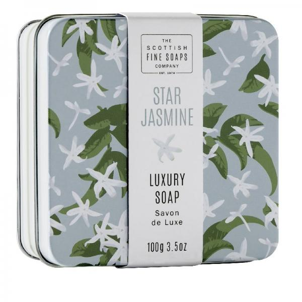 The Scottish Fine Soap Seife -Star Jasmine Soap in a Tin