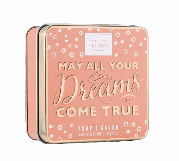 The Scottish Fine Soap Seife - May All Your Dreams Come True Soap in a Tin