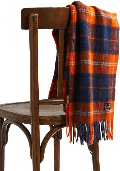 Lexington Massachussets Recycled Wool Blend Schal Orange Multi Mood Schick Wunderschoen