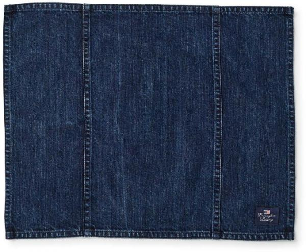 Lexington Platzsetz Icons Cotton Twill Denim Placemat Bluejeans Style