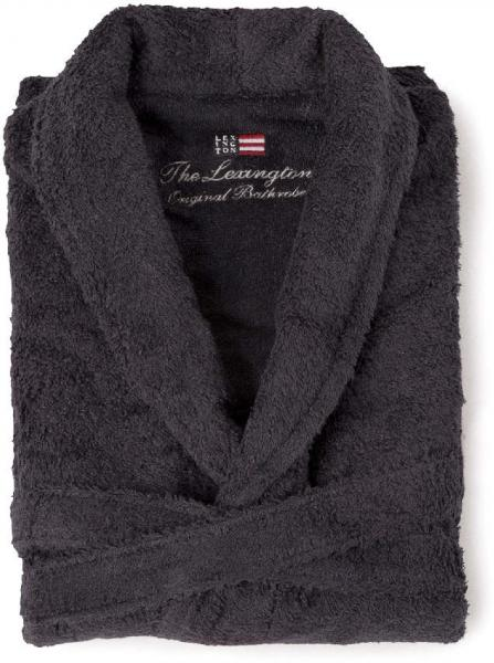 Lexington Bademantel Original Bathrobe Charcoal Schick Schoen Neu Bequem