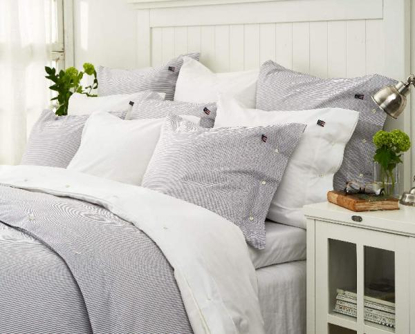 Lexington Bettbezug Pin Point Navy White Duvet Mood Bett Gemuetlich