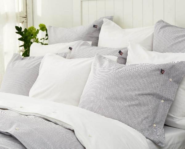 Lexington Bettbezug Pin Point Navy White Duvet Mood Kuschelig Schick Neu