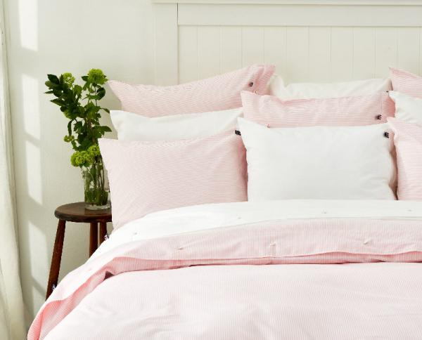 Lexington Kopfkissenbezug Pin Point Pink White Pillowcase Mood Schlafzimmer Gemuetlich