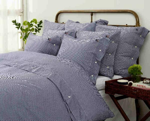 Lexington Kopfkissenbezug Seaside Navy Check Pillowcase Mood Bett Schick