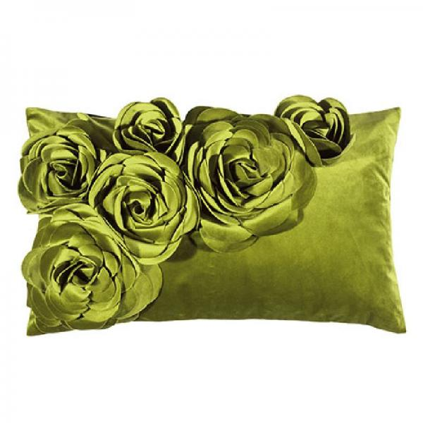 pad home design Floral Kissen Light green Hingucker Blickfang Blumen Rosen Floral
